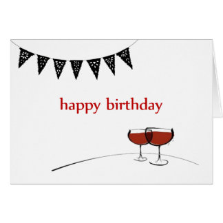 Wine with a Splash of Sass Birthday Card