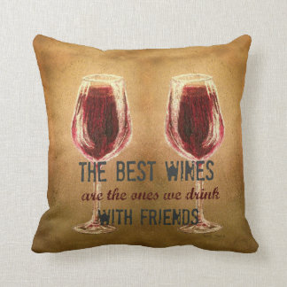 Wine with Friends Pillow