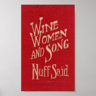 Wine Women & Song Poster