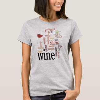Wine Word Cloud Design T-Shirt