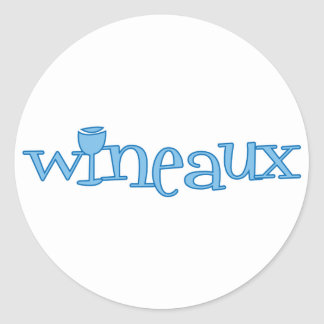 Wineaux (blue) classic round sticker
