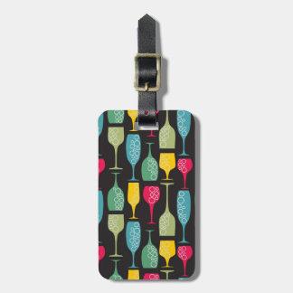 Wineglass Luggage Tag