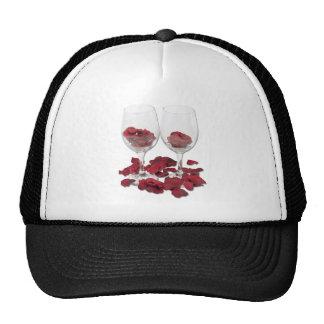 WineGlassRosePedals Trucker Hat