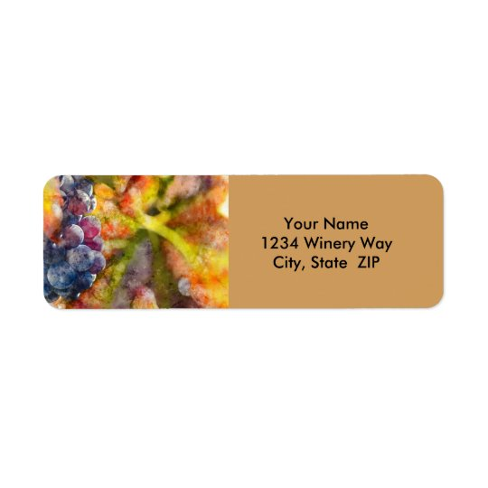 Winery Destination Wedding Return Address Labels