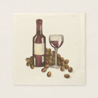 Winery Glass Bottle Red Wine Bar Winery Napkins Paper Napkins