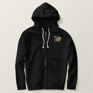 Winery Logo Embroidered Hoodie