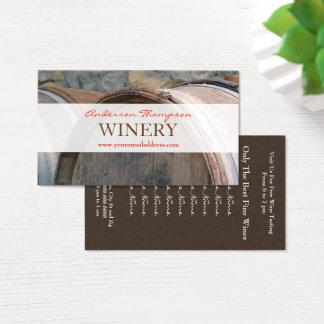 Winery Vineyard Wine Barrels Making Business Card