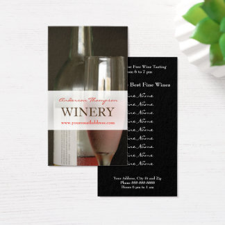 Winery Vineyard Wine Making Business Card