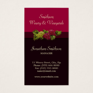 Winery / Vineyards Oenology business card