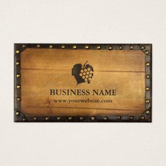 Winery Vintage Framed Old Wood Vineyard Wine Business Card