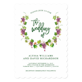 Winery Wedding with Modern Typography | Invitation