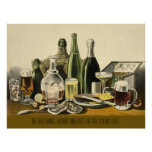 Wines, Liquors and Beer Poster
