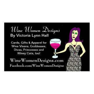 WineWomenDesigns.com featuring Wine Vixen Business Card Template