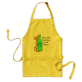 Wineycat, How Did You Know I Like Wine? Apron
