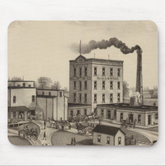 Winfield Roller Mills, Blissand Wood, Kansas Mouse Pad