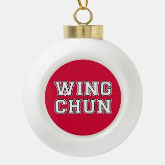 Wing Chun Ceramic Ball Christmas Ornament