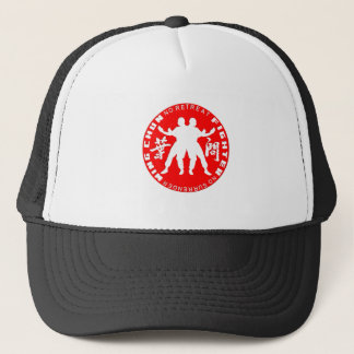 Wing Chun Fighter Emblem (Ip Man Linage) Red Trucker Hat