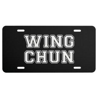 Wing Chun License Plate