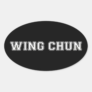 Wing Chun Oval Sticker