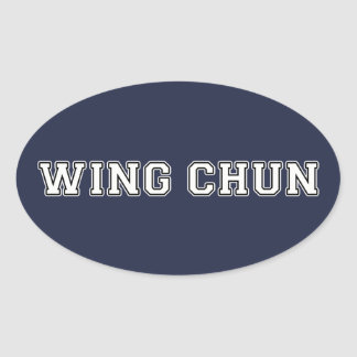 Wing Chun Oval Sticker