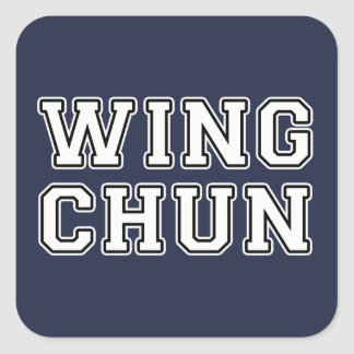 Wing Chun Square Sticker