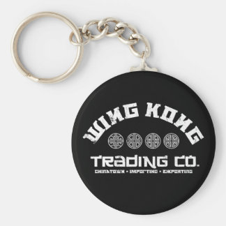 wing kong trading co. big trouble in little china basic round button keychain