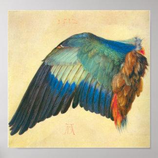 Wing of a Blaurake by Albrecht Durer Poster