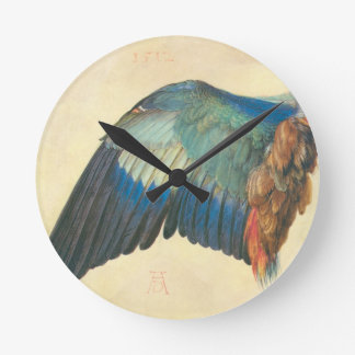 Wing of a Blue Roller by Albrecht Durer Wall Clock
