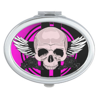 Wing Skull - PINK Mirror For Makeup