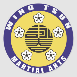 WING TSUN - MARTIALLY KIND CLASSIC ROUND STICKER