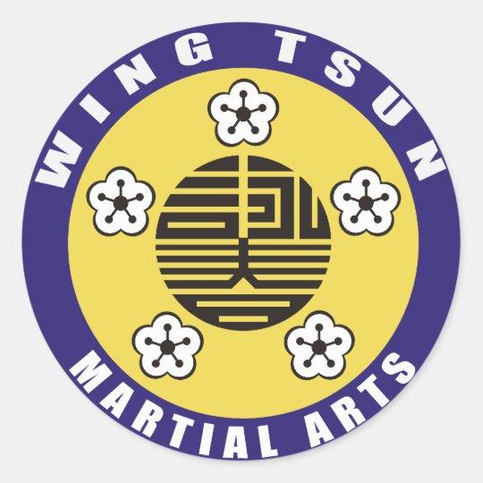 WING TSUN - MARTIALLY KIND CLASSIC ROUND STICKER