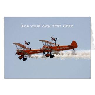 Wing Walkers aerobatic display team Card