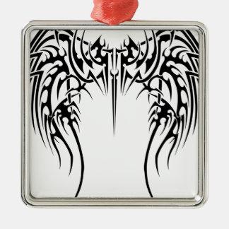 Wing wind metal ornament