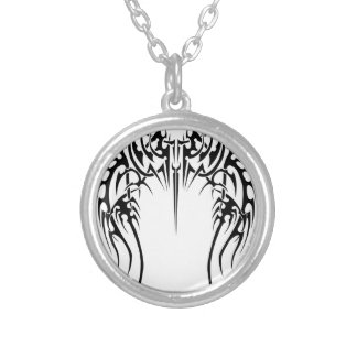 Wing wind silver plated necklace