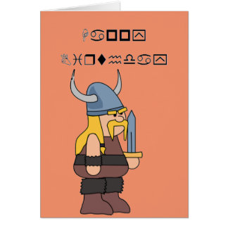 Wingding Viking Happy Birthday Card