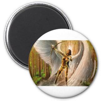 Winged Archer 2 Inch Round Magnet