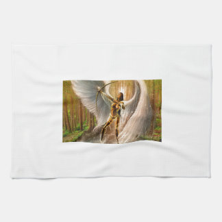 Winged Archer Hand Towels