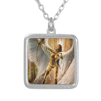 Winged Archer Silver Plated Necklace