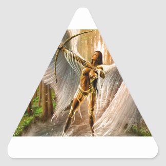 Winged Archer Triangle Sticker