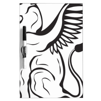 Winged Cat creature Dry-Erase Whiteboard