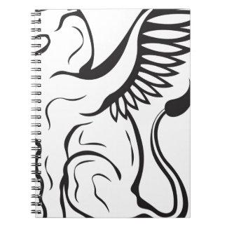 Winged Cat creature Spiral Note Book