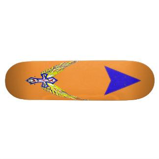 Winged cross skateboard
