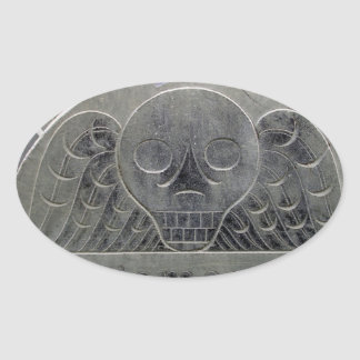 winged death cemetary stone sticker