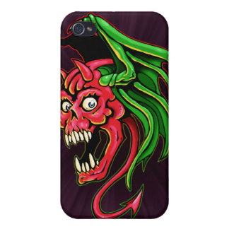 Winged Devil Skull Design iPhone 4/4S Covers