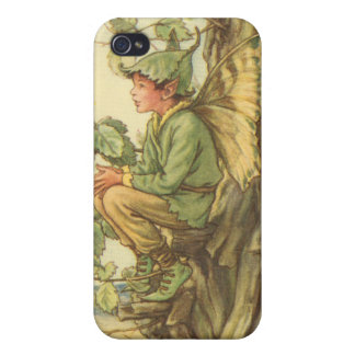 Winged Elm Fairy Sitting in a Tree iPhone 4/4S Covers