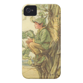 Winged Elm Fairy Sitting in a Tree iPhone 4 Cases