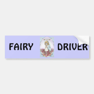 Winged fairy at home bumper sticker