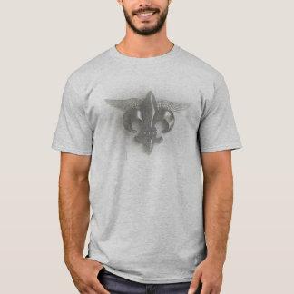 WINGED FLEUR DE LIS SKETCH SILVER 2500 T-Shirt
