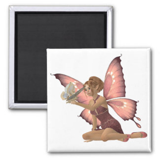 Winged Friends Square Magnet