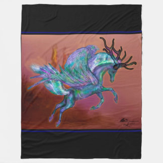 Winged Ghost deer stag hunter Fleece Blanket